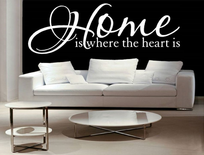 Home is where the heart is 2. Muursticker