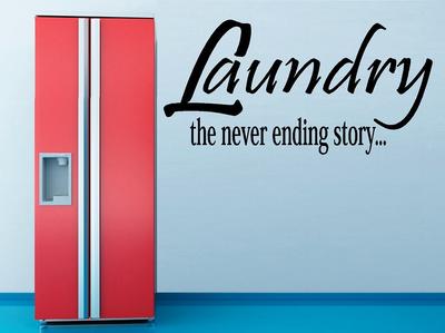 Laundry, the never ending stroy... Muursticker