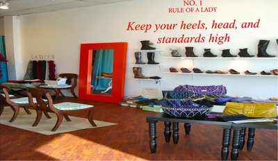 No. 1 rule of a lady. Keep your heels, head, and standards high. Muursticker