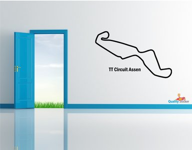 Race circuit Nederland - TT Circuit Assen muursticker