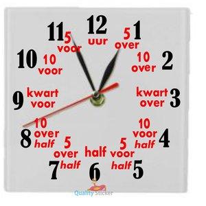 Vierkante klok 'Leren klokkijken'