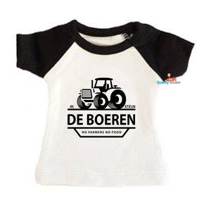 Ik steun de boeren mini T-shirt zwart