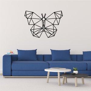 Vlinder geometrische muursticker