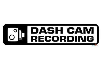 Dash can recording autosticker