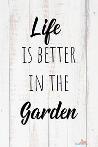 Life in the garden tuinposter