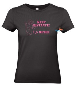 Keep distance 1,5 meter dames t-shirt