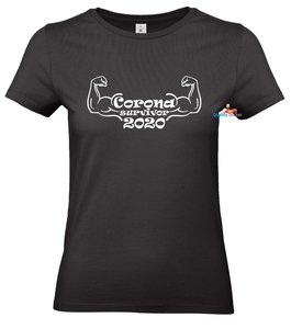 Corona survivor 2020 dames t-shirt