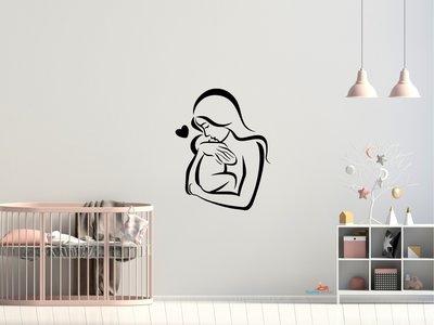 Moeder en baby 2 muursticker