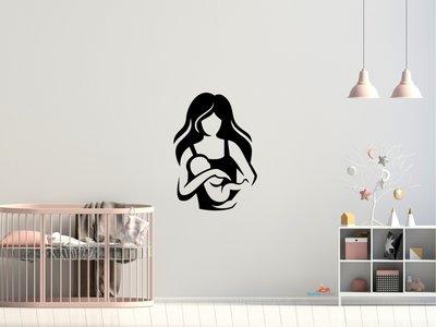 Moeder en baby 3 muursticker