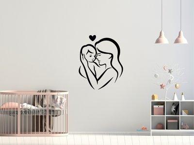 Moeder en baby 6 muursticker