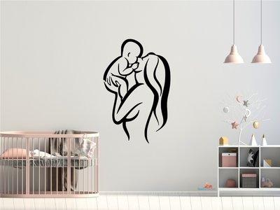 Moeder en baby 7 muursticker