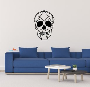 Doodshoofd / skull geometrische muursticker