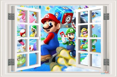 Mario Party Nintendo muursticker