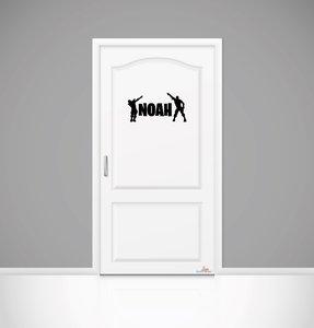Fortnite naamsticker deur