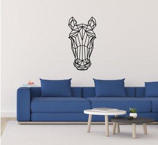 Paard hoofd geometrische muursticker