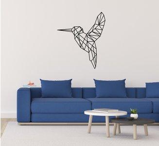 Kolibrie geometrische muursticker
