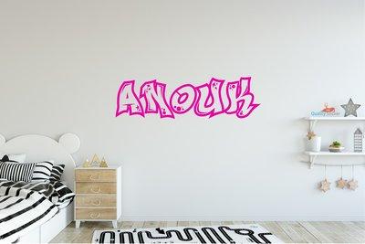 Graffiti naam muursticker