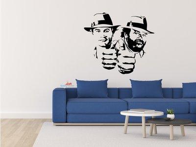 Bud Spencer en Terrence Hill muursticker