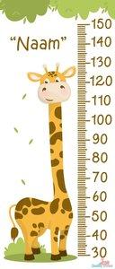 Giraf groeimeter met naam