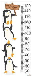 Pinguïns groeimeter met naam