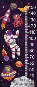 In de ruimte groeimeter