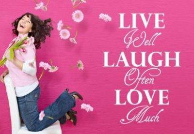 Live well laugh often love much. Muursticker / Interieursticker