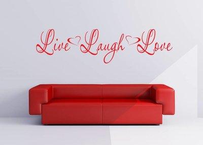 Live Laugh Love. Muursticker / Interieursticker