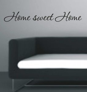 Home sweet home. Muursticker / Interieursticker