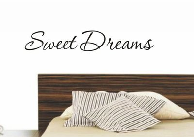 Sweet dreams. Muursticker / Interieursticker