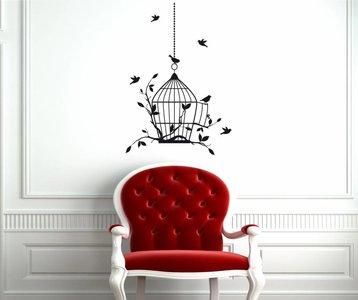 Vogelkooi muursticker