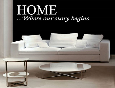 HOME... Where our story begins. Muursticker