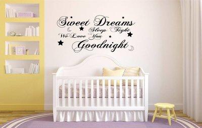 Sweet dreams, sleep tight, we love you, goodnight