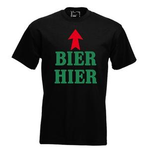 Bier hier. Keuze uit T-shirt of Polo en div. kleuren. S t/m 5XL