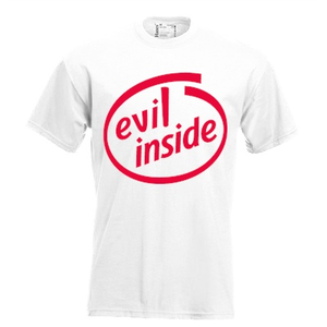 Evil inside!. Keuze uit T-shirt of Polo en div. kleuren. S t/m 5XL