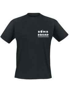 Bomb squad, If you see mee running, try to keep up with me. Keuze uit T-shirt of Polo en div. kleuren. S t/m 5XL