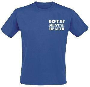 Dept. of mental health. / Patient. Voor en achterzijde bedrukt. Keuze uit T-shirt of Polo en div. kleuren. S t/m 5XL