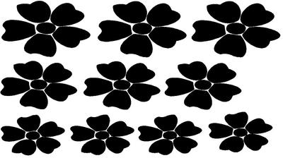 Set (raam)sticker bloemen. ( Bijpassend bij Groeiende bloemen sticker )