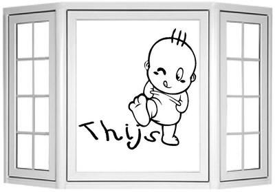Geboorte naamsticker