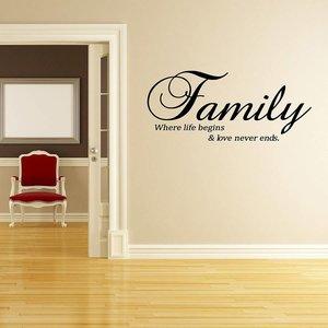 Family where life begins & love never ends.