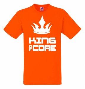 King of core met kroon T-shirt of Polo en div. kleuren. S t/m 5XL
