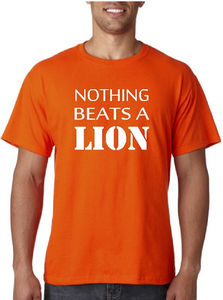 Nothing beats a lion. T-shirt of Polo en div. kleuren. S t/m 5XL