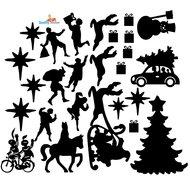 Sint en kerst set statische raamfolie
