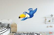 Kaketoe blauw muursticker 3D full color