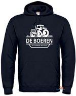 Ik steun de boeren hoodie unisex zwart