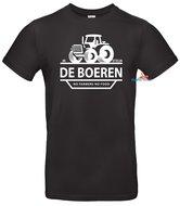 Ik steun de boeren T-shirt unisex zwart